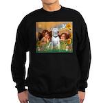 Angels & Bull Terrier #1 Sweatshirt (dark)