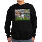 Lilies2-Bull Terrier (P) Sweatshirt (dark)