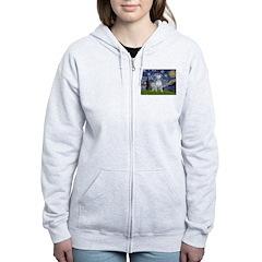 Starry/Bull Terrier (#4) Zip Hoodie