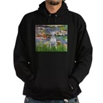 Windflowers Bull Terrier Hoodie (dark)
