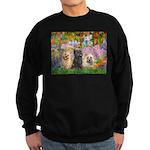 Garden/3 Cairn Terriers Sweatshirt (dark)