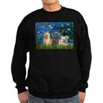 Lilies3/3 Cairn Terriers Sweatshirt (dark)