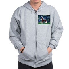 Lilies / Chinese Crested Zip Hoodie