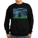 Lilies (5)/Cocker (Blk) Sweatshirt (dark)