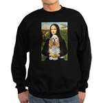 Mona Lisa / Cocker Spaniel Sweatshirt (dark)