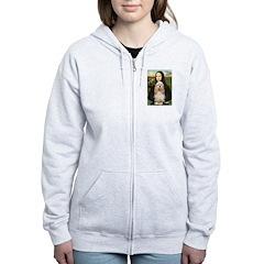 Mona Lisa / Cocker Spaniel Zip Hoodie