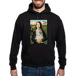 Mona Lisa /Cocker Spaniel Hoodie (dark)