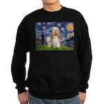 Spring /Cocker Spaniel (buff) Sweatshirt (dark)