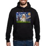 Spring /Cocker Spaniel (buff) Hoodie (dark)