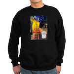 Cafe with Coton de Tulear Sweatshirt (dark)