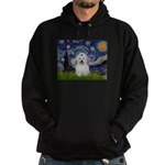 Starry Night Coton de Tulear Hoodie (dark)