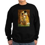The Kiss/Two Dachshunds Sweatshirt (dark)