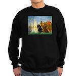 Sailboats / Dachshund Sweatshirt (dark)