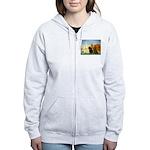 Sailboats / Dachshund Women's Zip Hoodie
