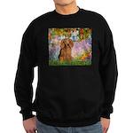 Garden -Dachshund (LH-Sable) Sweatshirt (dark)