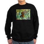 Irises & Dachshund Sweatshirt (dark)