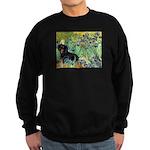 Irises & Dachshund (BT4) Sweatshirt (dark)