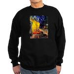 Cafe & Dachshund Sweatshirt (dark)