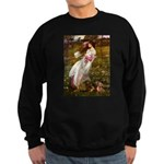 Windflowers / Dachshund Sweatshirt (dark)