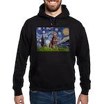 Starry / Red Doberman Hoodie (dark)