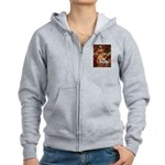 The Path / Two English Bulldogs Women's Zip Hoodie