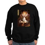 Queen/Fox Terrier (#S4) Sweatshirt (dark)