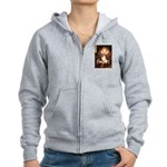 Queen/Fox Terrier (#S4) Women's Zip Hoodie