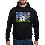 Starry / Fox Terrier (#1) Hoodie (dark)