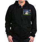 Starry / Fr Bulldog (f) Zip Hoodie (dark)