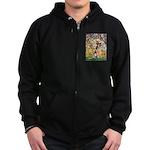 Spring & German Shepherd Zip Hoodie (dark)