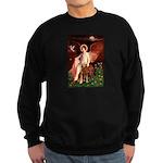 Angel & Golden Retrieve Sweatshirt (dark)
