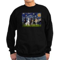 Starry / 4 Great Danes Sweatshirt (dark)