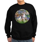 Lilies2/Italian Greyhound Sweatshirt (dark)