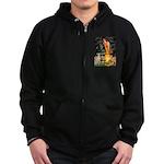 Midsummer's / Ital Greyhound Zip Hoodie (dark)