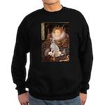 Queen / Italian Greyhound Sweatshirt (dark)