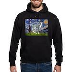 Starry Night/Italian Greyhoun Hoodie (dark)
