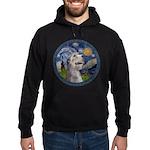 Starry Irish Wolfhound Hoodie (dark)