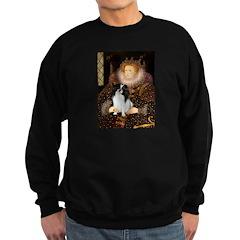 Queen/Japanese Chin Sweatshirt (dark)