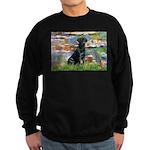 Lilies (#2) & Black Lab Sweatshirt (dark)