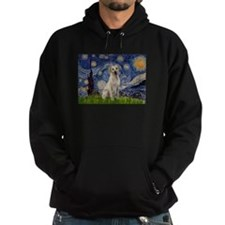Starry Night Yellow Lab Hoodie