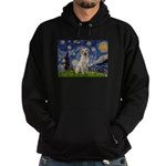 Starry Night Yellow Lab Hoodie (dark)