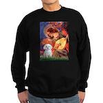 Mandolin Angel & Maltese Sweatshirt (dark)