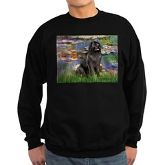 Lilies2-Newfie2 Sweatshirt (dark)