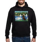 Sailboats & Newfoundland Hoodie (dark)