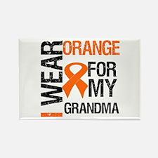 I Wear Orange For Grandma Rectangle Magnet