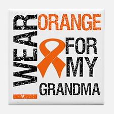 I Wear Orange For Grandma Tile Coaster