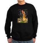 Fairies / Pekingese(r&w) Sweatshirt (dark)