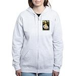 Mona /Pekingese (w) Women's Zip Hoodie