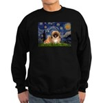 Starry / Pekingese(r&w) Sweatshirt (dark)