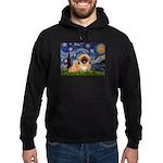 Starry / Pekingese(r&w) Hoodie (dark)